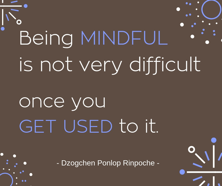 quote_Being mindful is not very difficult once you get used to it.